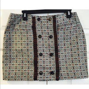 Derek Lam -100% Silk Brocade Mini Skirt-Sz 8